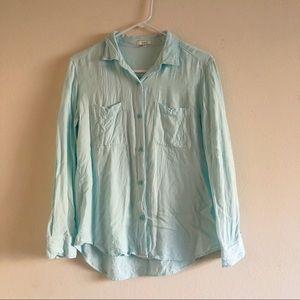 4/$25 Talula Aritzia Montana Shirt Blouse Blue S
